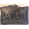 LOVE MOSCHINO pochette laminato grigio