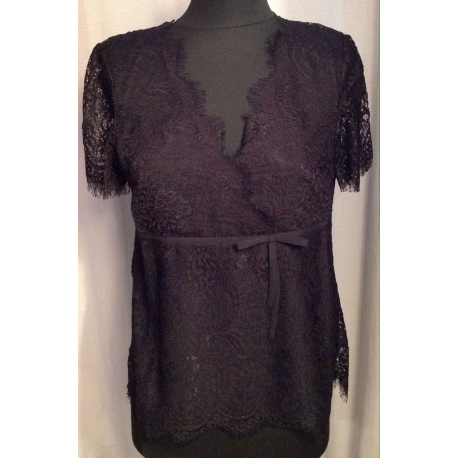 TWIN SET blusa in pizzo
