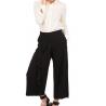 MANILA GRACE pantalone rouches