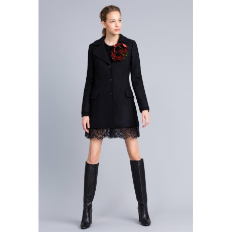 best sneakers c77cd f8541 TWIN SET cappotto panno con pizzo Twin Set: Marica Impronta Shop On...