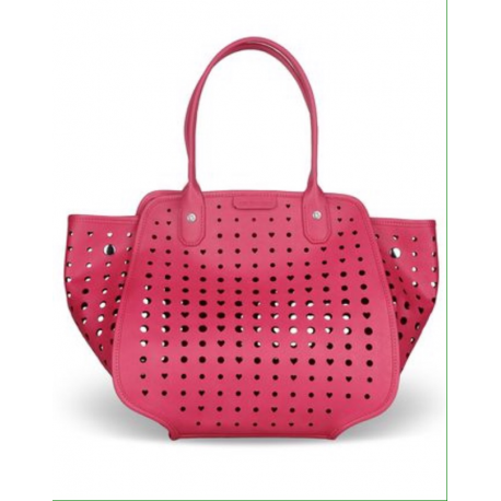 MOSCHINO shopping pelle fuxia