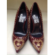 MOSCHINO decollete' vernice bordeaux