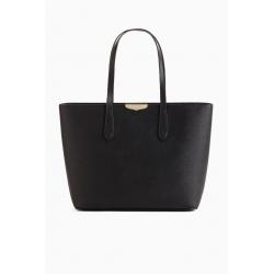TWIN SET borsa pelle saffiano nera