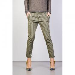 MANILA GRACE pantalone chinos a righe