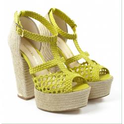 PALOMA sandalo intreccio giallo