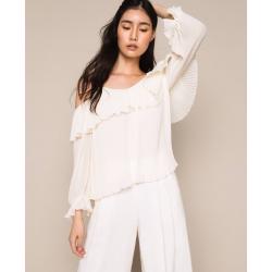 TWIN SET blusa plissé