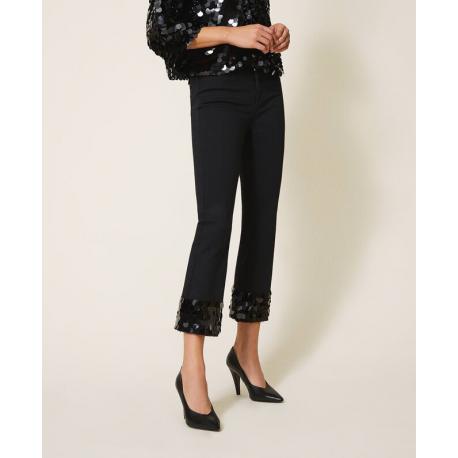 TWIN SET jeans con paillettes