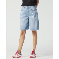 MANILA GRACE bermuda in jeans