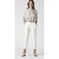 MANILA GRACE pantalone con pieghe