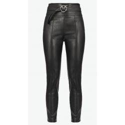 PINKO pantaloni effetto pelle