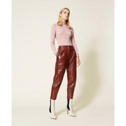 TWIN SET pantaloni stampa cocco